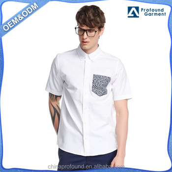 a5b4e0589321 Wholesale Mens Designer White Shirts Short Sleeve Man Casual Shirts With  Front Pocket Summer Cotton Poplin