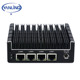 Yanling New NUC mini pc Celeron J3160 Quad core 4 intel I210Ai Nic X86 computer soft Router Linux server support Pfsense AES-NI