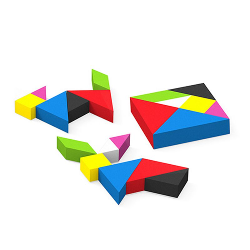 Colorful Tangram Eraser, Custom Puzzle Eraser, Pencil Eraser