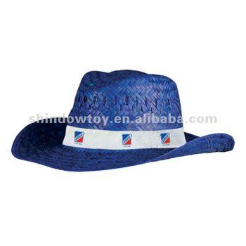 Azul Natural Paja Sombrero De Vaquero 93f6f7b1cd3