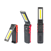 Input Output Portable Handheld Flashlight Foldable USB Rechargeable Working Lamp 5W COB 3W LED Work Light with Magnetic Hook