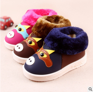 New arrival cute cartoon funny keep warm winter kids shoes
