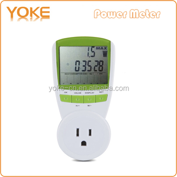 Ts-838 Us Plug Energy Meter Plug 230v 16a Ac Kwh Consumption ...