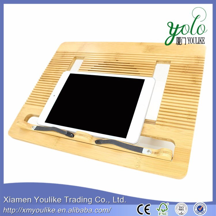 Bamboo Multi-function Portable Folding Book Stands and Holders with 6 Adjustable Positions