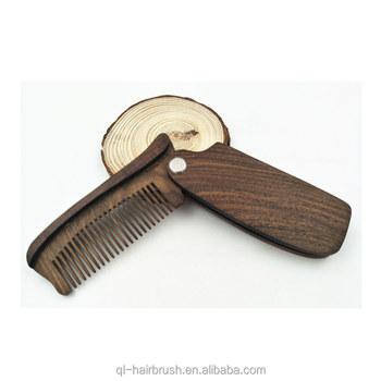 Folding Sucupira Wood Comb Handmade Anti-static Styling Comb For Men -  Perfect Beard Shaper - Buy Folding Wood Beard Comb,Foldable Beard Shaper