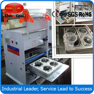 Manual semi-auto plastic cup sealing machine for milk tea Fruit juice