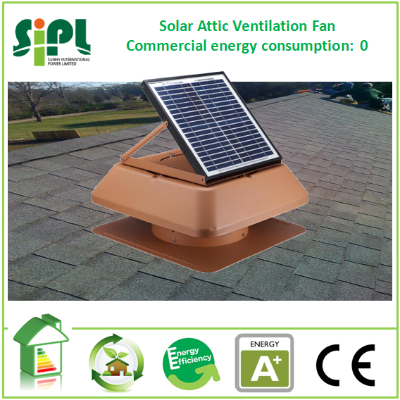 SUNNY FAN solar powered ventilation home <strong>system</strong> 20W roof mounting heat cooler air exhaust fan