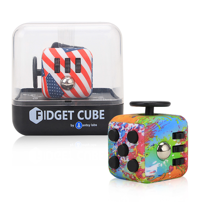 Toys For <strong>Kids</strong> 2018 Amazon Hot Sell Colorful Anti Stress Toy Fidget Cube