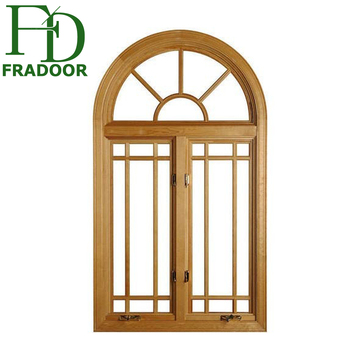 Modern House French French Style Glass Grills Aluminium Frame Arch ...