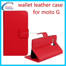 for moto G XT1032 leather case,genuine leather mobile phone case.