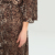 New trend women casual plus size leopard maxi dresses design