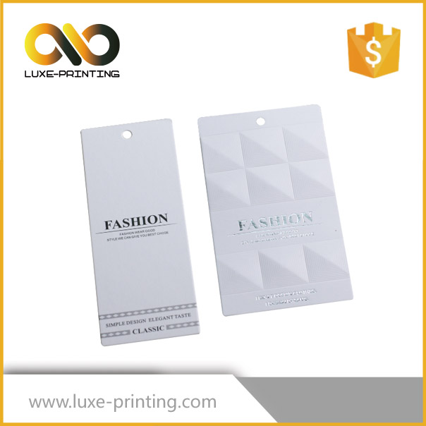 Emboss print clothing garment hang tag manufacturer