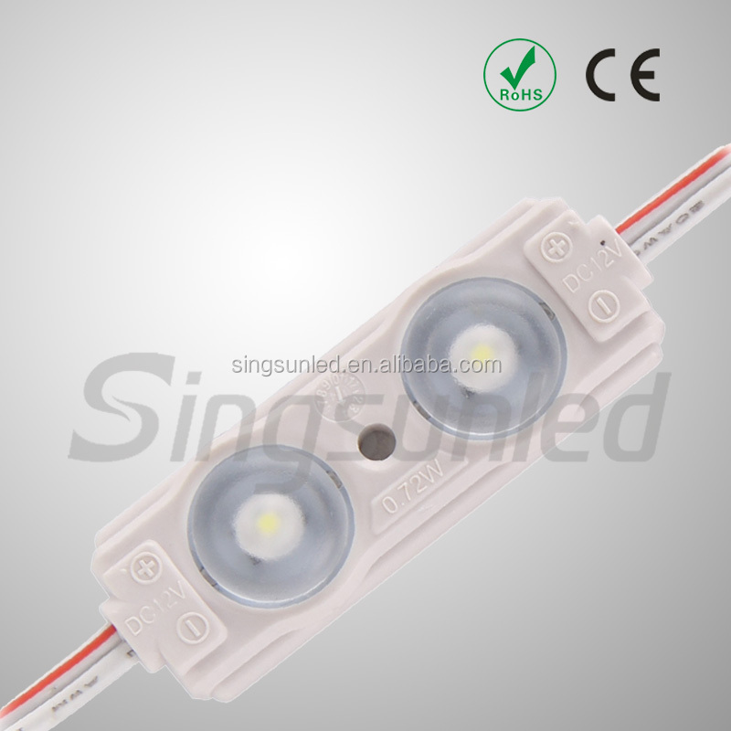New design 2835 SMD 2 chips samsung led module IP67 waterproof led module