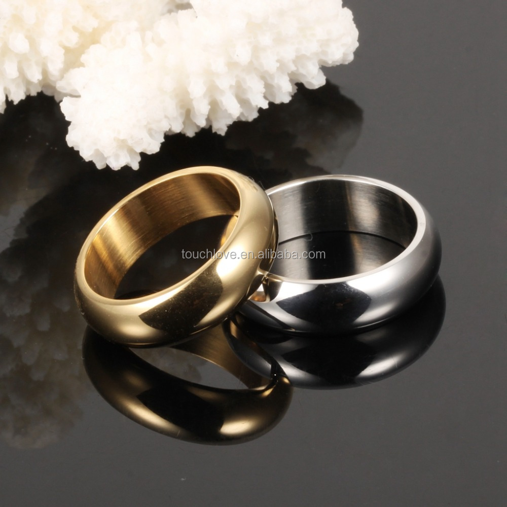 Sample design smooth lover ring set for couple shining ring