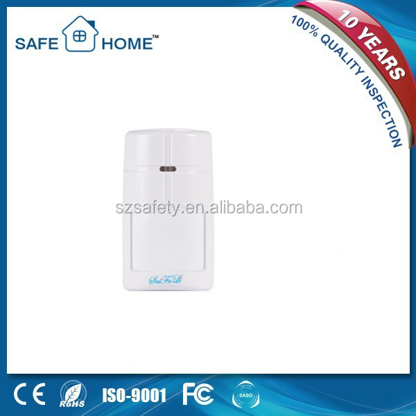 25KG pet immunity DC9-16V long distance pir motion detector with sirens