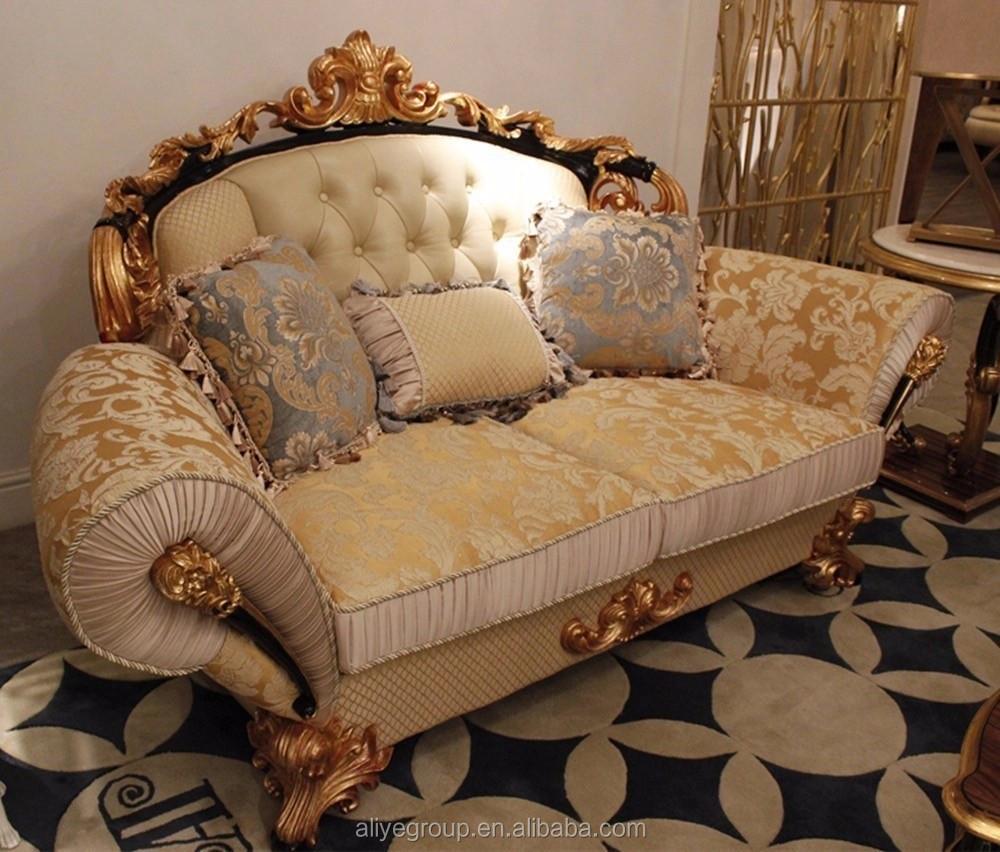 TI 025 Royal Luxury Velvet Sofa Furniture , Used Luxury Furniture