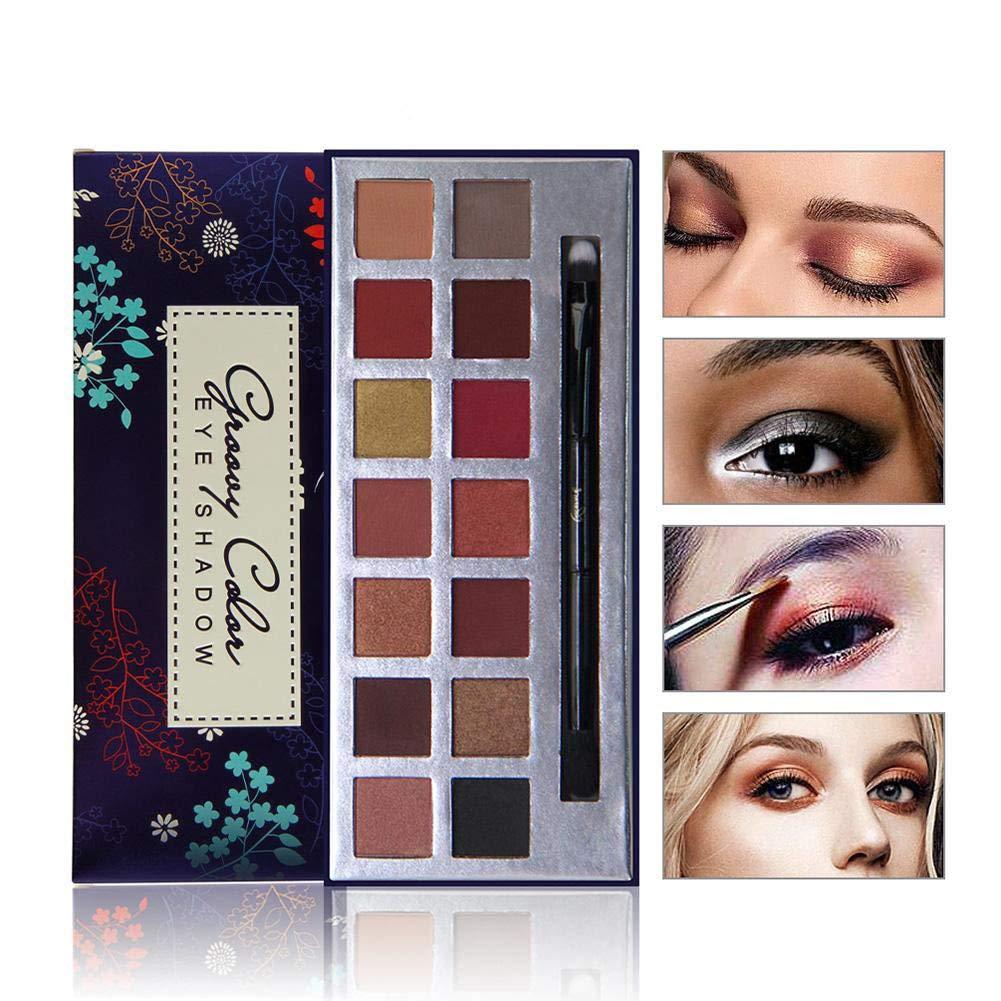 da1d2e2b9d3 Get Quotations · ZJchao Eyeshadow Palette, Professional 2 Types Eyeshadow  Powder Palette Shining Matte Glitter Eyeshadow Powder Waterproof