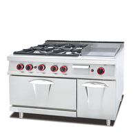 Stainless Steel Commercial Cooking Equipment 4 Burner Gas And Electric Cooker