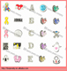 2014 top sale wholesale latest charms for memory locket fashion jewelry