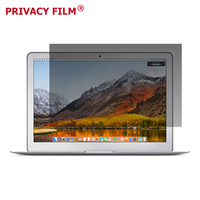 Black Frame Anti Spy Anti Glare Removable Privacy Filter for Macbook Air / Pro Retina 15.4 inch Laptop Privacy Screen Protector