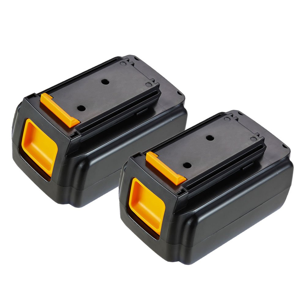 MASIONE 2 Pack 40v Max Lithium Battery for Black & Decker 36V 40-Volt Max Cordless Power Tools Trimmer Edger Sweeper Chainsaw LCS1240