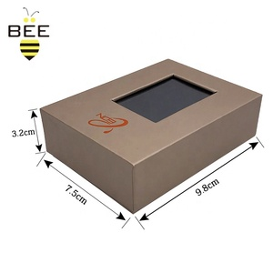 Luxury sunglass package box with logo hot stamp/UV,jewelry packaging box with window