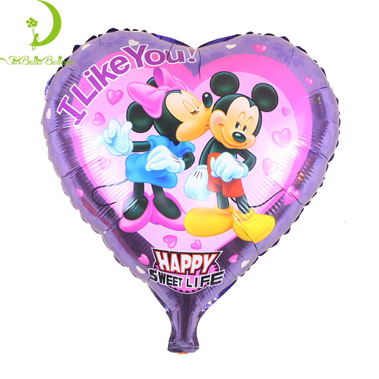 New Toys 2018 Kids Mickey Minnie Mouse Foil Balloon,Happy Birthday And Party Supplies Ballons