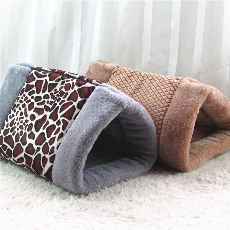 Comfortable Velvet Cat Pet House Bed