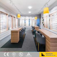 Eyewear Display Stand, Wall Mounted Eyewear Display, Wooden Optical Display Design