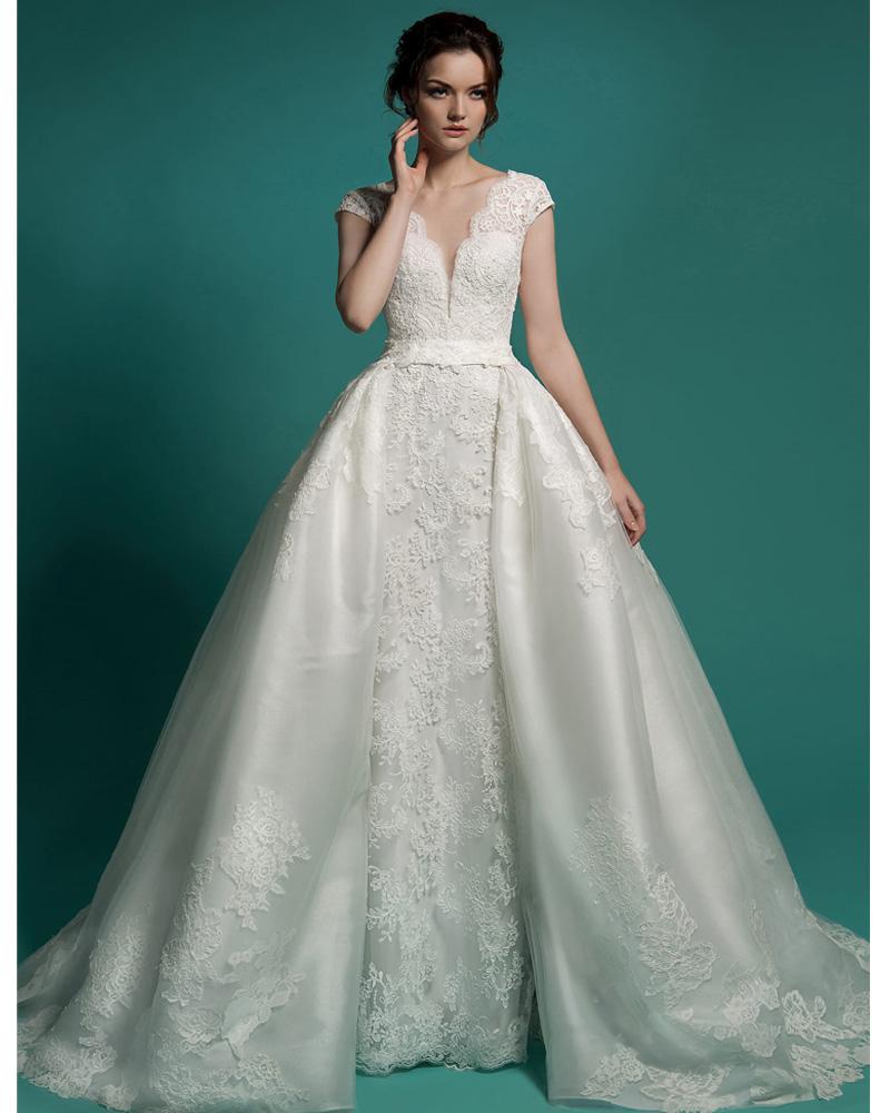 Detachable Wedding Gown: Aliexpress.com : Buy Vestido De Noiva 2 Em 1 Long Bridal