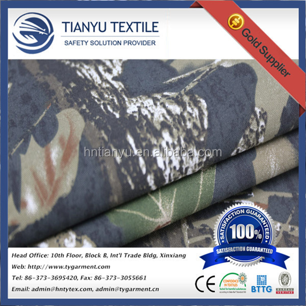 Hotsale Good Quality T/C 65*35 Outdoor Realtree Hunting Army Camo Pattern Material Military Camouflage Fabric