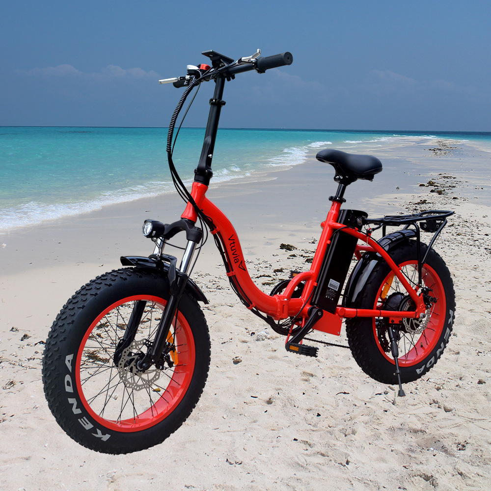 Hot sale 20 inch Foldable frame E bicycle 4.0'' Fat tire Ebike 500W 48V 12Ah Lithium Battery step through Electric Bicycle