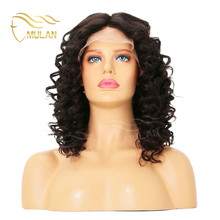 Most Popular Brazilian Lace Braided Wigs For Black Women Curly Lace Front Wig