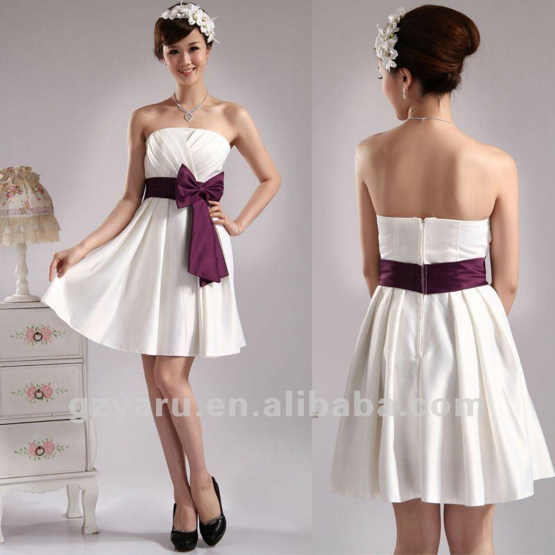 Robe de fille d 39 honneur blanche - Robe dame d honneur ...