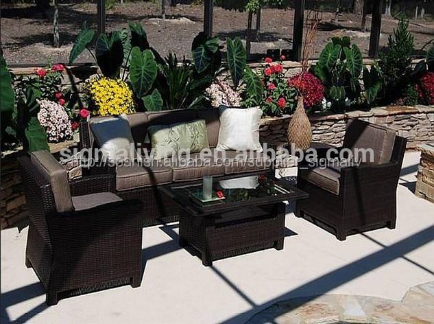 2015 nuevo producto jardín al aire libre 4 piezas de muebles de ...