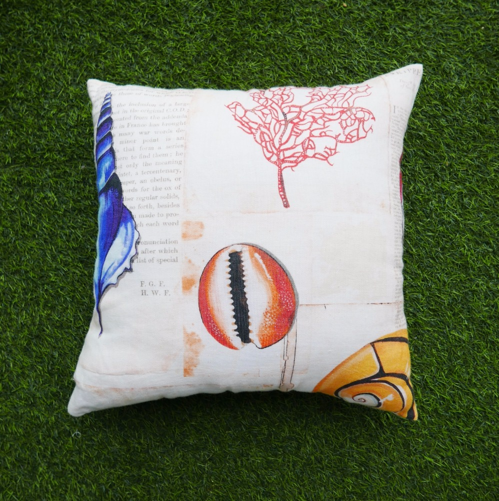 Fashion cushion collection shell patern printed decorative throw pillows
