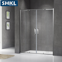 Best quality black corner high quality steam shower cabin