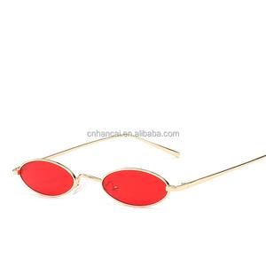 5bfab02e25f8 Vintage Small Oval Sunglasses Fashion Brand Women Men Metal Frame Clear  Pink Lens Shades Sun Glasses