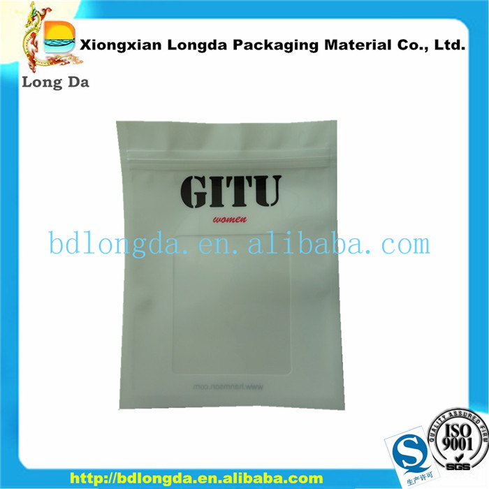 Electronic components packaging bag with zipper