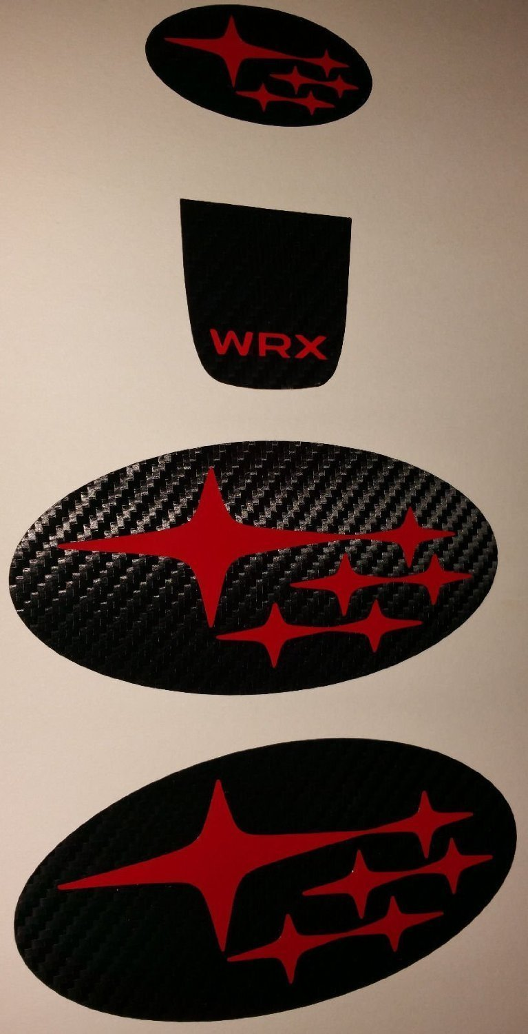 2015-2017 Subaru WRX Steering Wheel Decals Red
