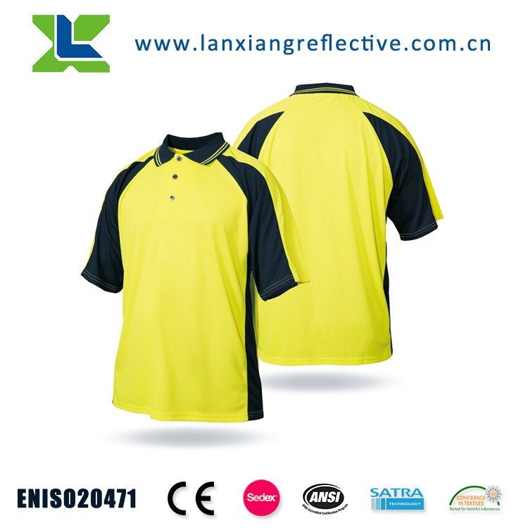 LX719 hi vis yellow polo shirt for mens polo shirt