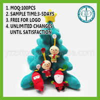 2016 Factory Wholesale Custom Stuffed Christmas ornaments with High Quality