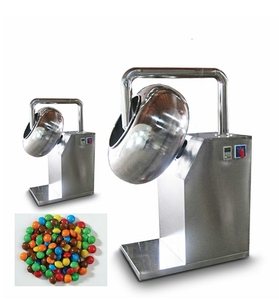 automatic sugar coated gummy bear candy small peanut burger coating machine