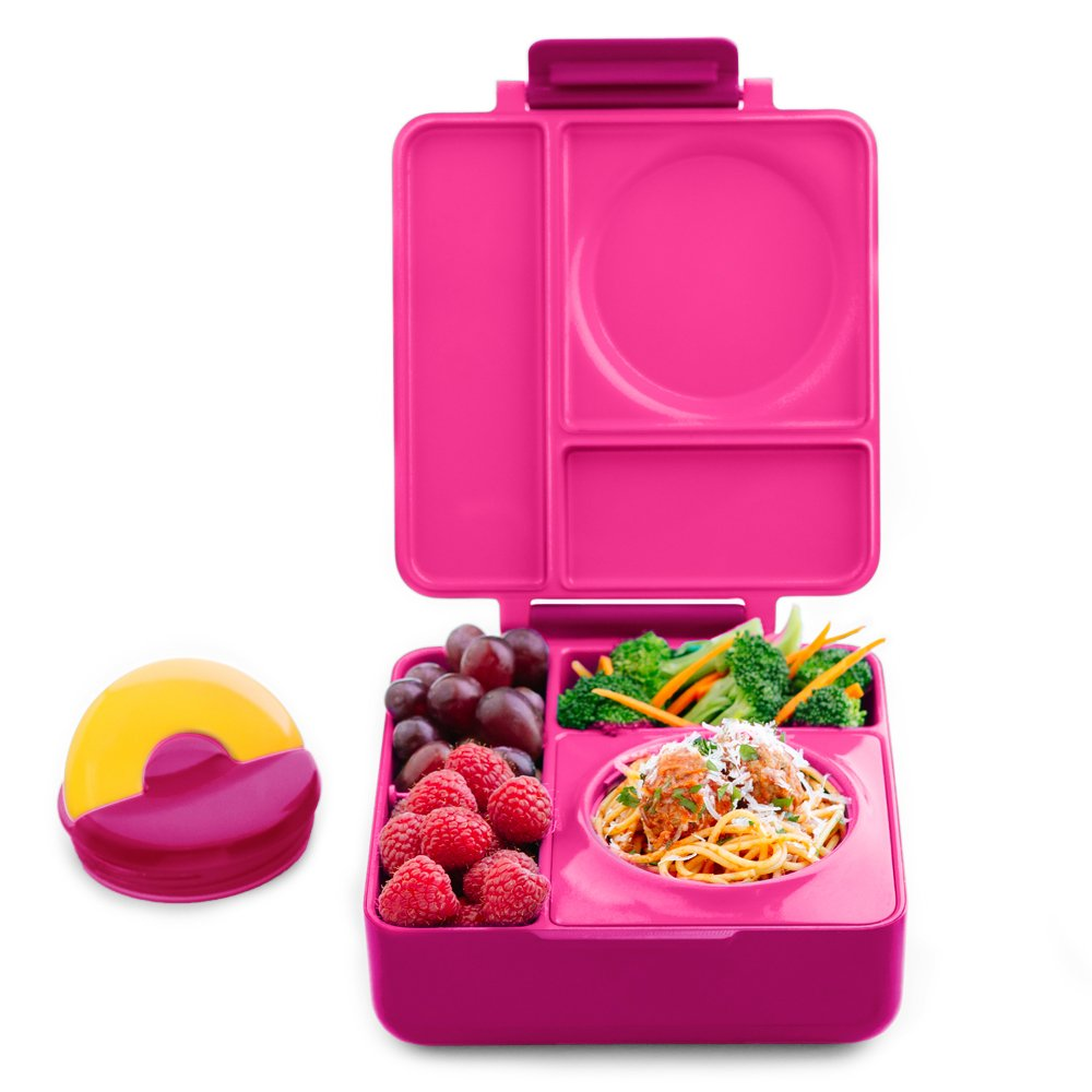 84a6a5a86b62 Get Quotations · OmieBox - Leak-Proof 3-Compartment Bento Lunch Box For Kids  - Includes Insulated