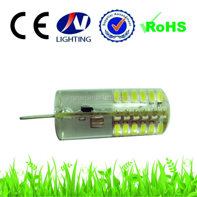 Silicon 3w led bullet lights g4 gy6.35 led light 12v 48smd