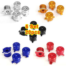 Wholesale 5 sets/ 20pcs Aluminum Alloy Metal 9mm Bullet Buttons For Sony PS4 Game Controller Parts For Dualshock 4 Accessories