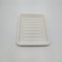 1050ml Compostable Cornstarch Rectangular Food Tray