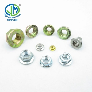 Color flange nuts and bolts and screw