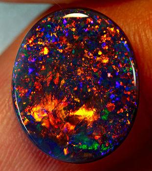 Black Opal Semi Precous Cabochon Gemstone