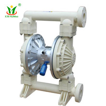 micro submersible AODD piston chemical plastic acid resisitant PTFE PP PVDF air operated double pneumatic diaphragm pump